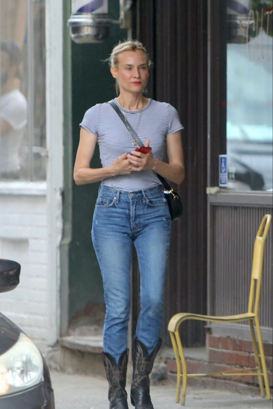 DIANE KRUGER in Denim Out and About in New York 06/01/2021