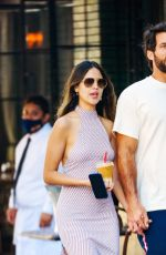 EIZA GONZALEZ and Paul Rabil Out for Coffee in New York 06/21/2021