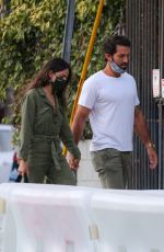 EIZA GONZALEZ and Paul Rabil Out for Dinner in Venice Beach 06/09/2021