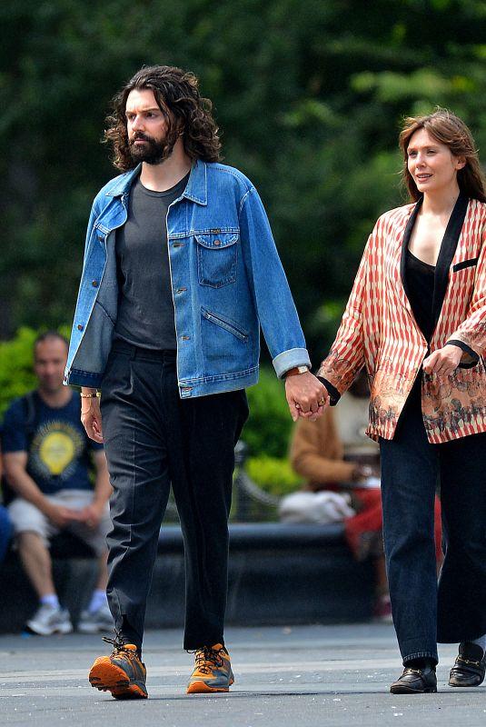 ELIZABETH OLSEN and Robbie Arnett Out in New York 06/16/2021