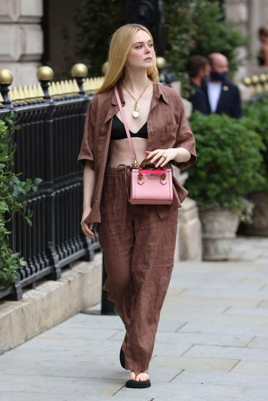 ELLE FANNING Out and About in London 06/22/2021 | celebrityparadise - hollywood , celebrities , babes & more