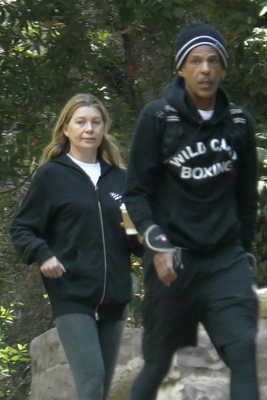 ELLEN POMPEO and Chris Ivery Out Hiking at Griffith Park in Los Feliz 06/08/2021