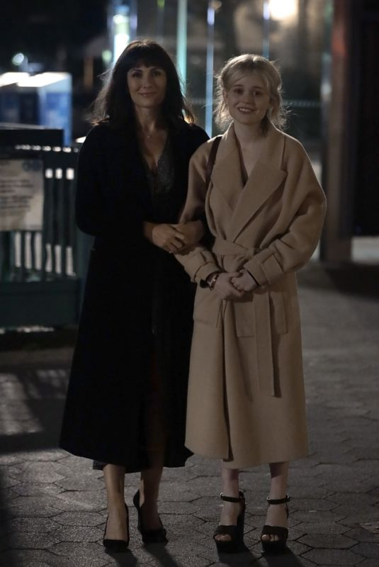 EMILY ALYN LIND and LAURA BENANTI on the Set of Gossip Girl in New York 06/06/2021