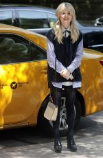 EMILY ALYN LIND on the Set of Gossip Girl in New York 06/08/2021