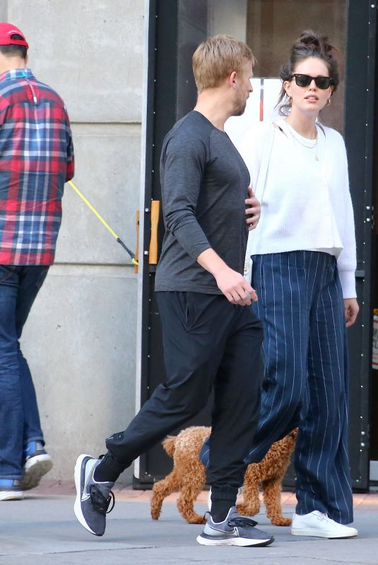 EMILY DIDONATO and Kyle Peterson Out with Their Dog in New York 05/31/2021