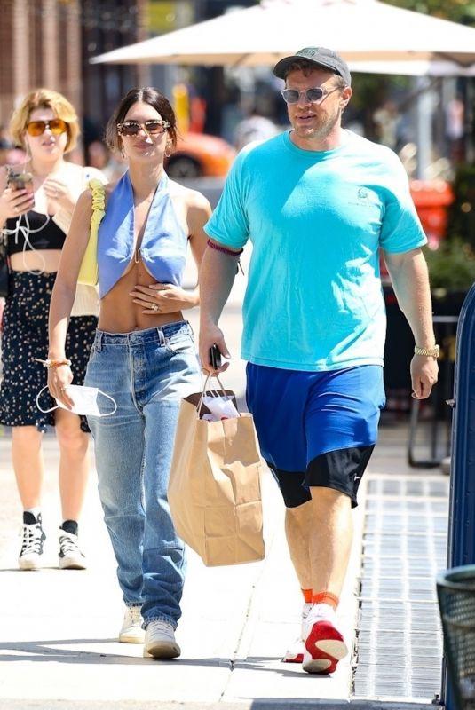 EMILY RATAJKOWSKI and Sebastian Bear McClard Out in New York 06/15/2021