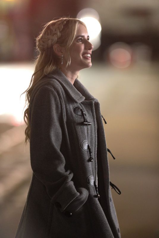 EMMA ROBERTS on the Set of About Fate in Boston 06/29/2021