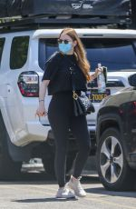 EMMA STONE Arrives at a Gym in Los Angeles 06/15/2021