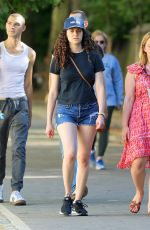 EMMY ROSSUM Out at Central Park in New York 06/16/2021