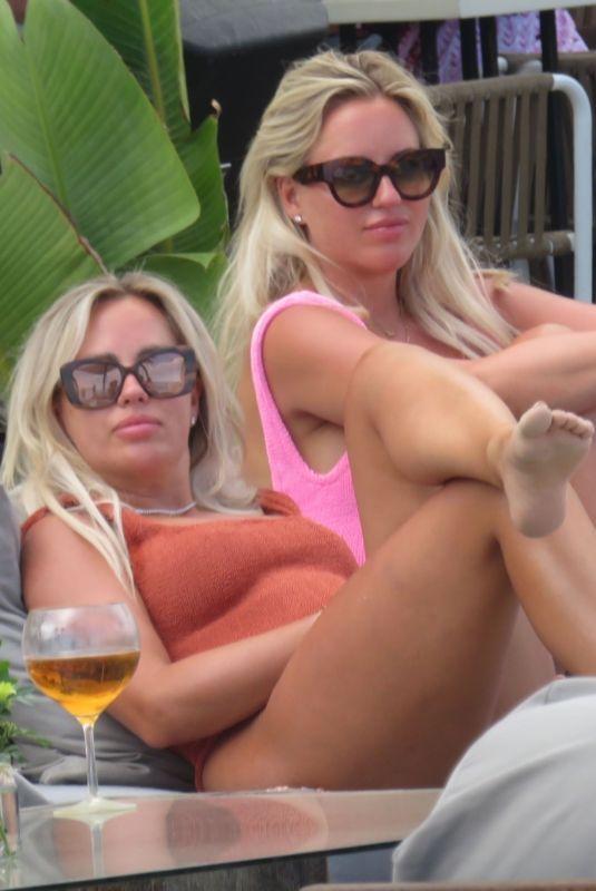 ESTER and ANNE VEDDER in Bikinis at a Beach in Marbella 06/06/2021