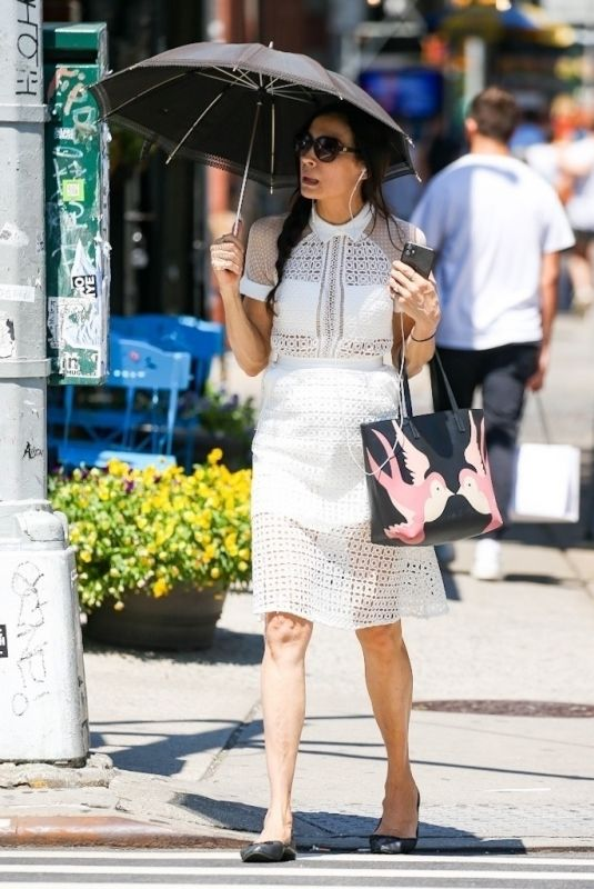 FAMKE JANSSEN Out and About in New York 06/29/2021