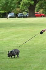 FRAN PARMAN Out with Her Dog at a Park in Chigwell 06/16/2021
