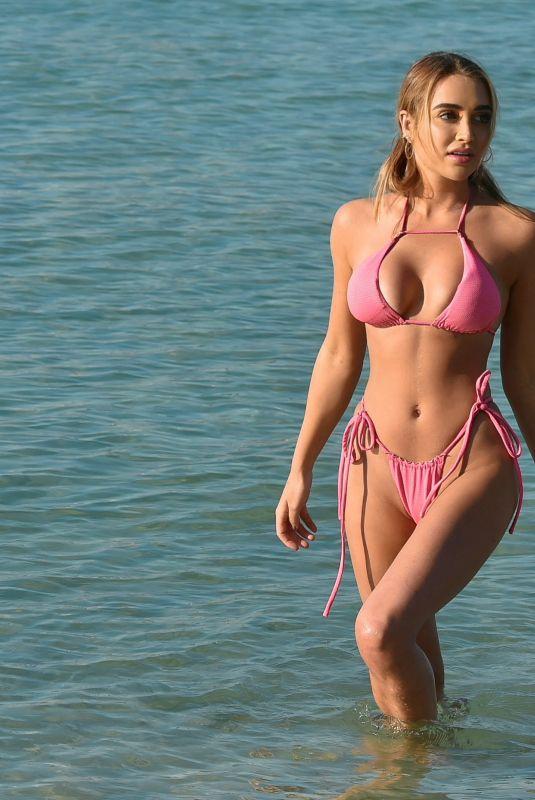 GEORGIA HARRISON in Bikini at a Beach in Miami 05/31/2021