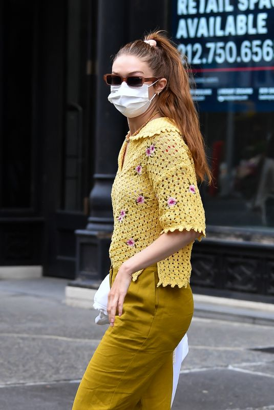 GIGI HADID Heading to a Salon in New York 06/04/2021