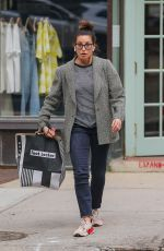 GINA GERSHON Shopping at Footlocker in New York 06/01/2021