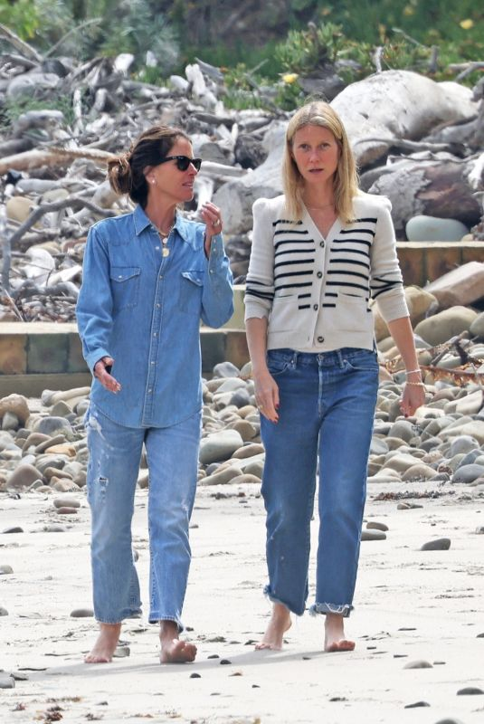 GWYNETH PALTROW Out on the Beach in Montecito 06/06/2021