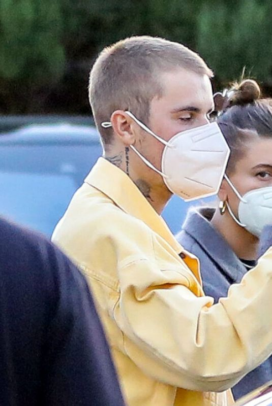 HAILEY and Justin BIEBER Night Out in Los Angeles 06/09/2021
