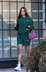 HANA CROSS Out for Iced Coffee in West Hollywood 06/09/2021