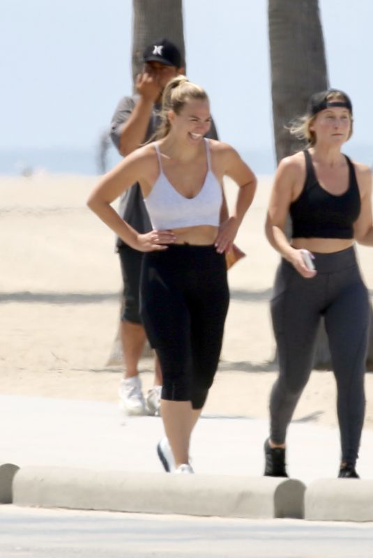 HANNAH BROWN Out Jogging with a Friend in Los Angeles 06/17/2021