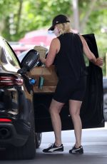 HEATHER LOCkLEAR at a Gas Station in Los Angeles 06/17/2021
