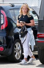 HILARY DUFF Arrives at a Private Gym in Studio City 06/15/2021