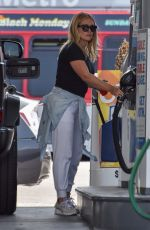 HILARY DUFF at a Gaas Station in Studio City 06/15/2021