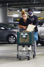 HILARY DUFF Shopping at Whole Foods in Los Angeles 06/13/2021