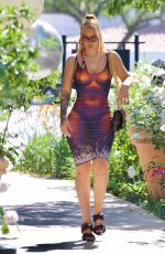 IGGY AZALEA in a Faux Nude Dress Out in Calabasas 06/28/2021