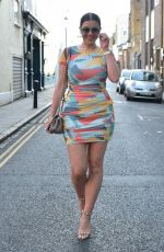 IMOGEN THOMAS in Tight Dress Out in Notting Hill 06/12/2021