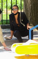 IRINA SHAYK Out and About in New York 06/10/2021
