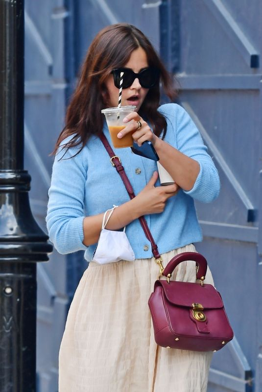 JENNA LOUISE COLEMAN Out for Coffee in London 06/17/2021