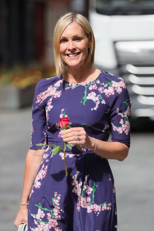 JENNI FALCONER Receives a Red Rose Out in London 06/07/22021