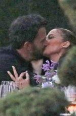 JENNIFER LOPEZ and Ben Affleck Kissing at a Dinner in Malibu 06/13/2021