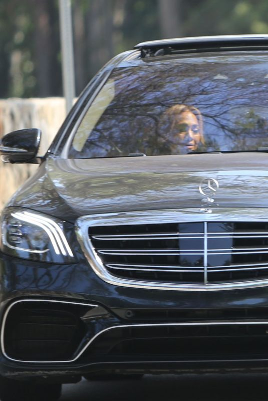 JENNIFER LOPEZ and Ben Affleck Out Driving in Pacific Palisades 06/18/2021