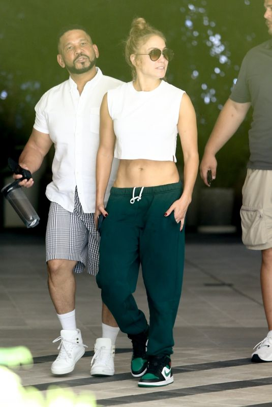 JENNIFER LOPEZ and Her Manager Benny Medina Out in Miami 06/09/2021