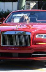 JENNIFER LOPEZ Gets a Ride in a Red Rolls Royce in Miami 06/09/2021