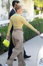 JENNIFER LOPEZ Out for Lunch at San Vicente Bungalows in West Hollywood 06/11/2021