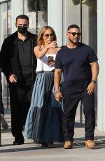 JENNIFER LOPEZ Shopping at Ralph Lauren in Beverly Hills 06/19/2021