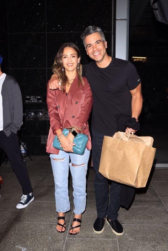 JESSICA ALBA and Cash Warren at Avra in Beverly Hills 06/22/2021