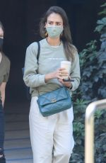 JESSICA ALBA Outside Her Company in Brentwood 06/10/2021