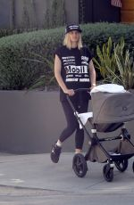 JESSICA HART Out with Her Baby in Los Angeles 06/08/2021
