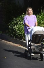 JESSICA HART Out with Her Baby on Memorial Day in Los Angeles 05/31/2021