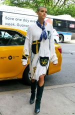 JORDAN ALEXANDER on the Set of Gossip Girl in New York 06/08/2021