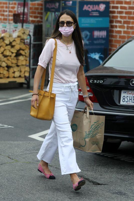 JORDANA BREWSTER Out Buying Flowers in Santa Monica 06/21/2021