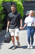 JORGIE PORTER and Ollie Piotrowski Out in Manchester 06/05/2021