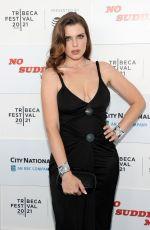 JULIA FOX at No Sudden Move Premiere at Tribeca Film Festival 06/18/2021