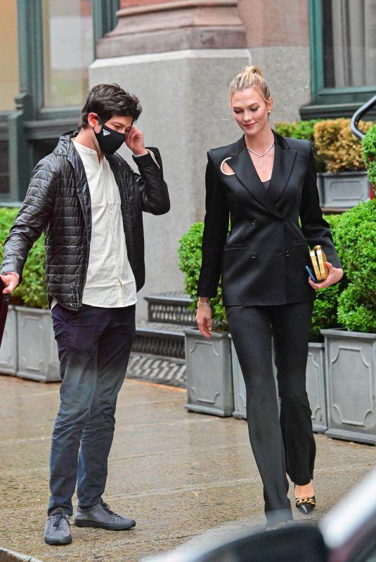 KARLIE KLOSS and Joshua Kushner Out in New York 06/08/2021