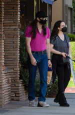 KAT DENNINGS and Andrew W.K. Out in Studio City 06/08/2021