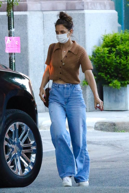 KATIE HOLMES in Denim Out in New York 06/10/2021
