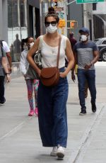 KATIE HOLMES in Denim Out in New York 06/14/2021